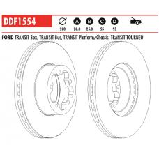 Диск тормозной передний Transit 06- DDF1554