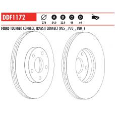 Диск тормозной передний Connect DDF1172