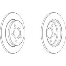 Диск тормозной задний Focus/C-MAX D=265 мм DDF1226
